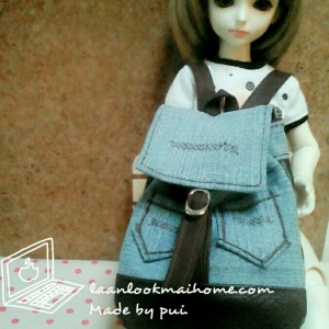 "AprilBDMSD2 : กระเป๋า สำหรับ ตุ๊กตา 16 "" (MSD,AMT,NANCY doll 16 "")"" Pimwaradda's Craft """