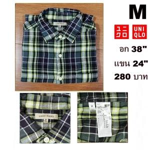 เสื้อเชิ้ตลายสก๊อต เสื้อเชิ้ต Uniqlo Size M