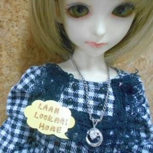 LMA5 สร้อยคอพร้อมจี้หรับตุ๊กตาBJD นางแบบเป็นMSD (1/4 BJD)ค่ะ