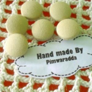 กระดุมปั๊ม handmade ขนาด 2 cm- ผ้าอเมริกา (1 แพคบรรจุ 1/2 โหล)