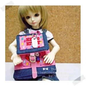 "HMLMshop124 : พวงกุญแจ "" Pimwaradda's Craft "" (ผ้านำเข้าค่ะ)"