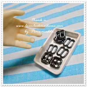 (พร้อมส่งหมดค่ะ Pre order นะคะถ้าสั่งช่วงนี้) MiniBK16 : ที่ปรับระดับสายสีเทาดำใช้กับชุดตุ๊กตา ขนาด 7 X8 mm 1 แพคบรรจุ 10 ชิ้นค่ะ