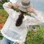 เสื้อคลุมผ้าลูกไม้ตกแต่งระบายสีขาว thumbnail 4