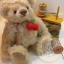 ตุ๊กตาหมีผ้าขน wool สีน้ำตาลอ่อนขนาด 19 cm. - Lilac (ผ้าจากประเทศเยอรมัน) thumbnail 1