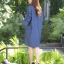 เดรสผ้ายีนส์แขนบานปักดอกไม้3D thumbnail 3