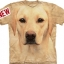 Big Face Yellow Labrador Dog Portrait T-Shirts thumbnail 1