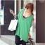 เสื้อแฟชั่นแต่งคอวีทรงสบายสีเขียวตามแบบนะค่ะ thumbnail 6