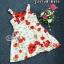เดรสสั้นทอลายนูนผ้าโพลีสเบลนด์ค้อตต้อนพิมพ์ลายดอกโทนสีแดง thumbnail 5