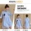 เดรสแฟชั่นเกาหลี เสื้อคอปก สไตล์เก๋ๆมาแล้วคะ เนื้อผ้าใส่สบายโทนสีฟ้าลายทาง ด้านหน้าปักลายการ์ตูนน่ารักๆ แขน พับได้ ทรง 3 ส่วน thumbnail 11