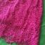 (Pink-rose)ชุดเดรสผ้าลูกไม้ถักทอทั้งชุด สีชมพูบานเย็น pink แต่งมุขด้านหน้าสลับเพชรเล็ก วิ๊งวิ๊ง thumbnail 6