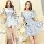 ชุด mini dress ลายดอกโทนสีพาสเทล thumbnail 1
