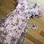 เดรสผ้าทูลเลปักดอกไม้กุหลาบสีชมพูทับลูกไม้สีชมพู thumbnail 5