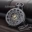 นาฬิกาพกฝาฉลุสีดำเงาระบบกลไกไขลาน คอลเลคชั่น Circle of Love
