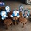 ลายโดราเอมอน รุ่นมีพนักพิง โต๊ะ ขนาด 18*20 นิ้ว จำนวน 1 ตัว เก้าอี้ ขนาด 10*10 นิ้ว จำนวน 4 ตัว ผลิตจากไม้จามจุรี รับน้ำหนักได้ถึง 70 กก. thumbnail 1