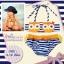 YW233-74 ลายนกฮูก ชุดว่ายน้ำเด็กเล็ก size 4 - 12 เดือน น้ำหนัก 9-12 กก. ชุดว่ายน้ำเด็ก thumbnail 1