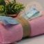 เซตผ้าขนหนูสำหรับเย็บตุ๊กตาหมี 2 ตัว - โทนสีชมพู thumbnail 4