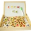 กล่องกระดานไวท์บอร์ดพร้อมตัวอักษร/ตัวเลขแบบแม่เหล็กและแบบโดมิโน thumbnail 1