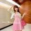 ชุดเดรสเกาะอกสีชมพูหวาน+เสื้อคลุมเข้าชุดกัน มีไซส์ S thumbnail 6