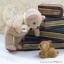 ตุ๊กตาหมีผ้าขูดขนสีโอวันตินขนาด 9.5 cm. - Niza thumbnail 4