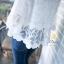 เสื้อคอวีผ้าลูกไม้เกาหลี ปลายเป็นผ้ามุ้ง thumbnail 5