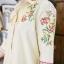 ชุดเดรส ผ้า Cottonปักดอกไม้ช่วงอก และแขน thumbnail 4