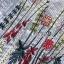 เดรสผ้าคอตตอนลายทางสีฟ้าขาวปักลายดอกไม้สไตล์ซัมเมอร์ thumbnail 7