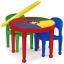 โต๊ะต่อเลโก้ 2 in 1 ทรงกลม ปรับเป็นโต๊ะทานอาหาร โต๊ะทำกิจกรรมและโต๊ะเล่นเลโก้ได้ thumbnail 1
