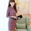 ชุดเดรสแฟชั่นเกาหลีเสื้อคอจีนลายสวยดูเด่นมากค่ะ แขนยาวมาพร้อมเข็มขัดเข้าชุดสวยค่ะไซส์ XL มี2สี สีชมพู/สีเขียว thumbnail 1