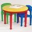 โต๊ะต่อเลโก้ 2 in 1 ทรงกลม ปรับเป็นโต๊ะทานอาหาร โต๊ะทำกิจกรรมและโต๊ะเล่นเลโก้ได้ thumbnail 4