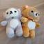 พร้อมส่ง ตุ๊กตาติดกระจกRilakkuma Nonbiri Neko cat Set 2 ตัว thumbnail 2