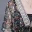 เดรสพรีเมี่ยมชีฟองลายดอกไม้ประดับเลื่อม thumbnail 9