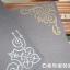 ชุดตัวปั๊ม floral wooden stamp set ตัวด้ามไม้พร้อม หมึก twin color thumbnail 4