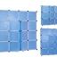 ตู้ DIY ลายเส้นสีขาว ข้างตู้สีฟ้า ขนาดช่องละ 37x37 ซม. รับน้ำหนักได้ช่องละประมาณ 10-15 กิโลกรัม (ขนาด 12 และ 16 แถมชั้นวางรองเท้า) thumbnail 3
