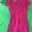 (Pink-rose)ชุดเดรสผ้าลูกไม้ถักทอทั้งชุด สีชมพูบานเย็น pink แต่งมุขด้านหน้าสลับเพชรเล็ก วิ๊งวิ๊ง thumbnail 2