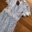 มินิเดรสผ้าลูกไม้ทับเครปสีฟ้าอ่อนสไตล์เบบี้ดอล thumbnail 5