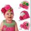 -พร้อมส่ง- หมวกผ้าประดับดอกไม้ hand made ขนาดใหญ่ น่ารักสดใส มี 3 ลายให้เลือก เหมาะสำหรับน้อง 6 เดือน - 2 ปีค่ะ thumbnail 1