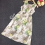 ชุด Maxi dress แขนกุด เนื้อผ้าพิมพ์ลายหอ eiffel และดอกไม้กับผีเสื้อ thumbnail 5