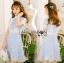 มินิเดรสผ้าลูกไม้ทับเครปสีฟ้าอ่อนสไตล์เบบี้ดอล thumbnail 2