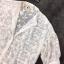 Shirt คอปก ทรงแขนพอง กระดุมหน้างานผ้าชีฟองปักลายขาว thumbnail 7