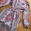 Maxi Dress เดรสยาวผ้าเครปสีฟ้าพิมพ์ลาย thumbnail 6