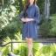 เดรสผ้ายีนส์แขนบานปักดอกไม้3D thumbnail 2