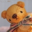 ตุ๊กตาหมีผ้าขนสีน้ำตาลทองขนาด 10 cm. - Muffin thumbnail 1