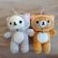พร้อมส่ง ตุ๊กตาติดกระจกRilakkuma Nonbiri Neko cat Set 2 ตัว thumbnail 1
