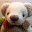 ตุ๊กตาหมีผ้าขนสีครีมขนาด 23 cm. - Bloom thumbnail 3