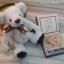 ตุ๊กตาหมีผ้าขนยุ่งสีขาวขนาด 20 cm. - Friday thumbnail 3