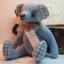 ตุ๊กตาหมีผ้าฝ้ายสีฟ้าขนาด 17 cm. - Bobble thumbnail 1