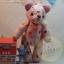 ตุ๊กตาหมีผ้าฝ้ายลายดอกไม้ขนาด 20 cm. - Kate thumbnail 1