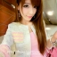 ชุดเดรสเกาะอกสีชมพูหวาน+เสื้อคลุมเข้าชุดกัน มีไซส์ S thumbnail 12