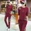 ชุดเซท 2 ชิ้น เสื้อแขนยาว++กางเกงขายาว ปักที่เสื้อและกางเกง thumbnail 2