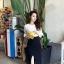 เดรสแฟชั่นเกาหลีเสื้อแขนกระดิ่งทรงสวยค่ะ มี 2 สี สีขาวตัดำ/สีดำตัดเหลืองเลมอน กระโปรงตัดเฉียงด้านหน้าไขว้กันนะคะ thumbnail 1